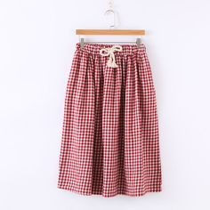 Aigan Check A-Line Skirt | YESSTYLE