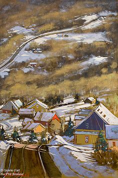 "Gilles Bédard - "" Saint-Irénée, Charlevoix "" Montreal Quebec, Quebec City, Montreal Canadiens, Charlevoix, Art Gallery, Canadian Artists, Watercolor Art, Gilles, Canada"