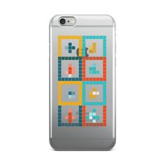 Clear iPhone case Christmas Pixel Design via PixelPallete. Click on the image to see more!