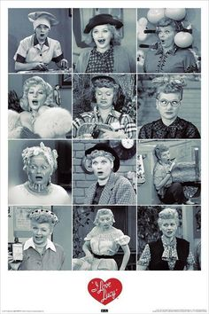 I Love Lucy FACES Lucille Ball 36x24 Art Print Poster