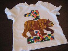 Large Brown Bear Birthday shirt  Boy or Girl  by CelebrationKids, $22.00