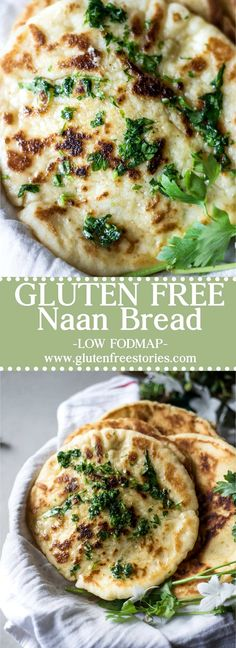 This gluten-free naan bread is everything a good naan bread should be. Soft tender and chewy. Plus low FODMAP easy on the stomach and very simple to make. Naan Sans Gluten, Pan Sin Gluten, Fodmap Recipes, Healthy Recipes, Patisserie Sans Gluten, Recipes With Naan Bread, Gluten Free Recipes For Dinner, Gluten Free Dinners Easy, Gluten Free Baking Recipes