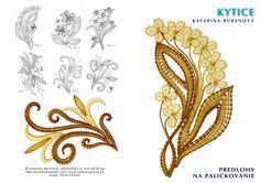 Predlohy na paličkovanie Katky Búranovej Love Crochet, Irish Crochet, Crochet Flowers, Lace Jewelry, Diy Jewelry, Tattoo Dentelle, Bobbin Lacemaking, Bobbin Lace Patterns, Diy Couture