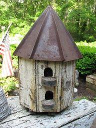 rustic birdhouse ideas - Google Search
