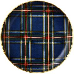One Kings Lane Tartan Dessert Plates, Set of 4