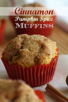 Cinnamon pumpkin spice muffin recipe perfect for fall! CatchMyParty.com