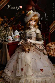 1//3 Bjd Sd13 Mädchen Puppe Kleidung Outfit Weiße Farbe Kleid Set Dollfie Luts