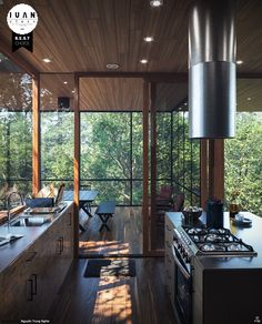 Sliding glass doors from kitchen to deck