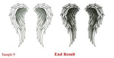 heart shaped angel wings tattoo | Simple Angel Wings Drawing