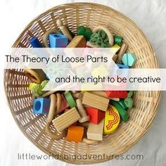 Open ended, loose parts invite children to be creative and explore their imagination to see what they can create.