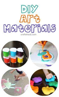 DIY art materials -