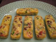 Breakfast Sticks from Buttoni's Low Carb Recipes (bacon AND sausage!  Baked in a silicone protein bar mold. How cool!)