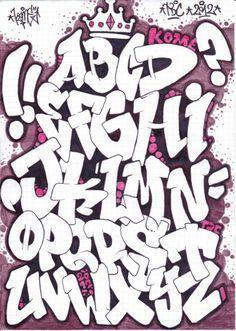 Billedresultat for graffiti alphabet block style