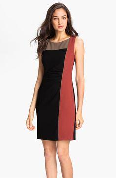 Vince Camuto Colorblock Asymmetrical Sheath Dress   Nordstrom