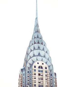 Chrysler Building, Art Deco, started 1928. New York City.  I just really like the look of the building. It's not like simply rectangular but has the arches and triangles. it makes you reflect on the great capacity of the human mind and creativity.