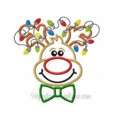 Reindeer Boy Applique Design Happytown Applique
