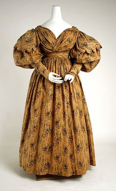Walking dress Date: ca. 1830 Culture: British Medium: cotton Accession Number: 1977.91.1