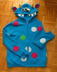 Hoodie Monster Halloween Costume #Halloween