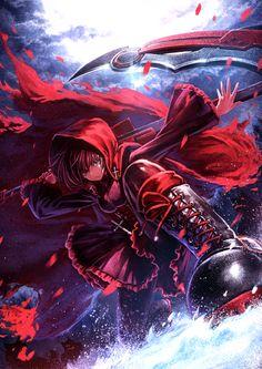 red... it's fabulous fanart btw.