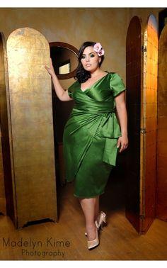 Ava Dress in Jade Green - Plus Size