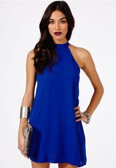 Nikola Halterneck Shift Dress - Dresses - Missguided