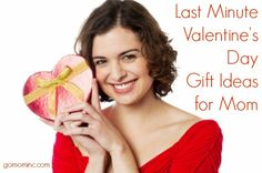 Just in case you are scrambling ~ like no idea what to get the special Mom in your life and Valentine's Day in 4 days scrambling. OR…you know your people haven't started thinking about getting you anything either.  Its all good ~ we've got options =) Last Minute Valentine's Day Gift Ideas for Mom | gomominc.com
