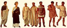 Different styles of Roman dress for the various men in each social class.  Clothing in Ancient Roman - Crystalinks  2012