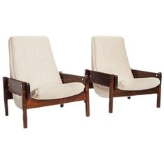 "Brazilian Modern Rosewood ""Vronka"" Lounge Chairs by Sergio Rodrigues 