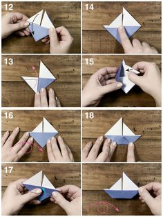 ▷ easy origami patterns to learn how to make your .- ▷ 1001 + modèles d'origami faciles pour apprendre comment faire un bateau en papier fun and intelligent activity for children, step-by-step explanations for making a sailing origami model - Origami Simple, Easy Origami For Kids, Mobil Origami, Make A Paper Boat, Diy Paper, Paper Crafts, Sailor Theme, Origami Patterns, Origami Models
