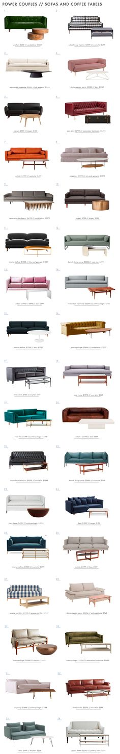 34 Power Couples: Sofas and Coffee Tables - Emily Henderson