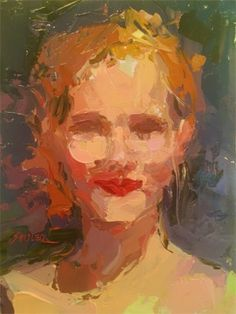 A Little Pop of Red, painting by artist Sally Cummings Shisler