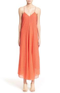 Tibi Cotton Lace Maxi Dress