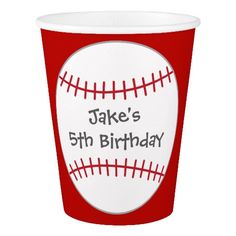 Baseball Themed Party Cups- Birthday https://www.zazzle.com.au/baseball_themed_party_cups_birthday-256718263863345274?utm_content=buffer5ab3e&utm_medium=social&utm_source=pinterest.com&utm_campaign=buffer. Click through to find matching games, favors, thank you cards, inserts, decor, and more.  Or shop our 1000+ designs for all of life's journeys. Weddings, birthdays, new babies, anniversaries, and more. Only at Aesthetic Journeys