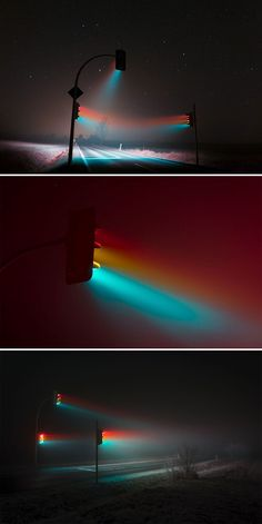 Long Exposure Photography Collection Traffic Light Long Exposure