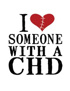 This is a white 100% Cotton shirt with I ♥ Someone with a CHD on the front and the Mended Little Hearts logo on the sleeve in black.