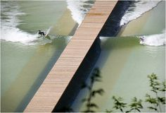 """Wavegarden is a man-made surfing lagoon built deep in Spain´s Basque Country. Wavegarden features a patented technology, a hydrodynamic wave foil"""" that runs along the bottom of the lagoon to create a swell, generating perfectly formed tubing waves t No Wave, Surf Pool, Wave Pool, Mechanical Wave, Professional Surfers, Basque Country, Surfs Up, Wakeboarding, Lisbon"""