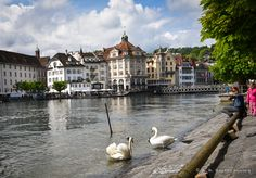 Lucerne is one of the oldest cities in Switzerland and is located in the German-speaking part of the country, so the locals call it 'Luzern' (while 'Lucerne' is French.)