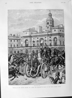 1889 Fire Engines Prince Wales Horse Guards Parade