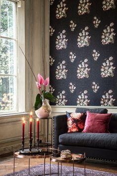 Vlies Tapete Florales Blumen Muster schwarz Dutch Masters 17801 Tulpen