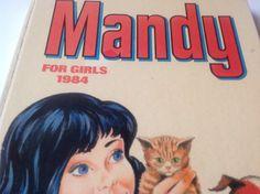 Mandy for Girls. by FadoVintage Annual Leave, Irish Language, Pink Stars, Comics Girls, Blue Moon, 1980s, Childhood, Books, Vintage