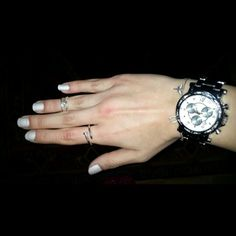 #nails #nailpolish #watch #rings