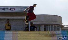 """رياضة """"رولر بلايد"""" تغزو شواطىء قطاع غزة: بدأت رياضة """"رولر بلايد"""" او التزلج بالعجلات تلقى رواجا على شواطىء قطاع غزة الفقير، بينما يدفع…"""
