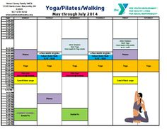 May - July 2014 Yoga Schedule