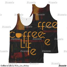 Coffee is Life All-Over Print Tank Top