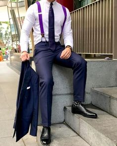 Suit With Suspenders, Suspenders Outfit, Suit And Tie, Mens Fashion Suits, Mens Suits, Men's Fashion, Fashion 1920s, Victorian Fashion, Moda Masculina