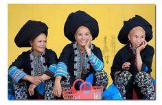 Yao (Dao) women in Lai Chau Province, Vietnam