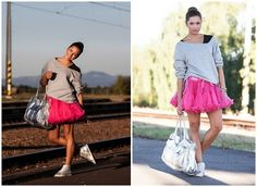 Get this look: http://lb.nu/look/5324386  More looks by Ivanka Petrušová: http://lb.nu/sweetladylollipop  Items in this look:  Unknown Pink Tutu Skirt, Orsay Black Bodysuit, Next Grey Sweater, Unknown Silver Bag From Second Hand, Unknown Silver Sneakers