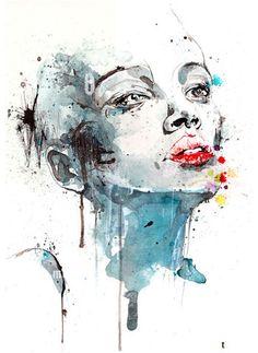 Stunning modern fashion illustration work. Looks like gauche or watercolor.