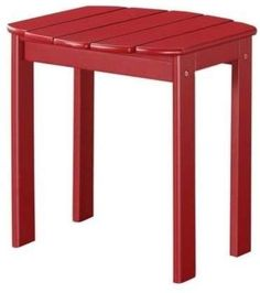 Linon Home Decor Products Red Adirondack End Table