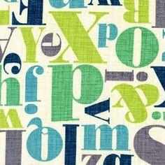 Letterpress Breeze Michael Miller Fabrics         Kwaliteit 100% katoen   Stofbreedte 110 cm   Achtergrondkleur offwhite   Motief grootte letters:...